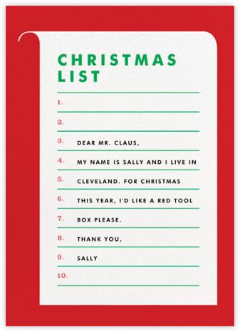 Christmas List - The Indigo Bunting
