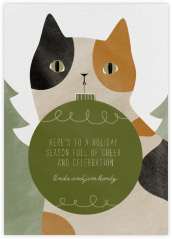 Calico Cat Ornament - Paperless Post