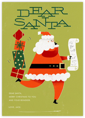 Santa's Got a Secret (Dear Santa) - Fair - Paperless Post