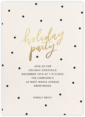 Dotty Holiday - Sugar Paper - Holiday invitations