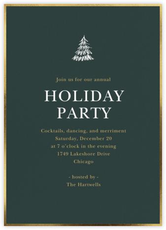 Scribble Tree - Sugar Paper - Holiday invitations