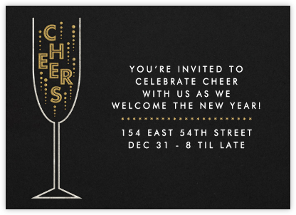 Cheers - Paperless Post - New Year's Eve Invitations