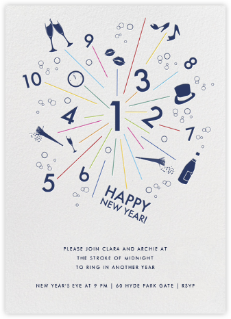 Sparkler - Ivory - Paperless Post - New Year's Eve Invitations