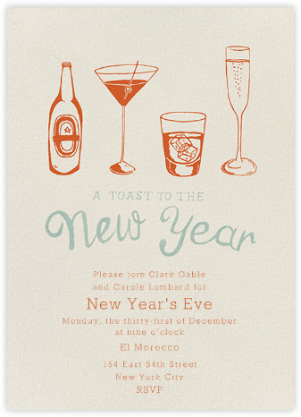 New Years Cocktails - Paperless Post - New Year's Eve Invitations
