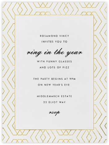 Deco Diamond - Paperless Post - New Year's Eve Invitations