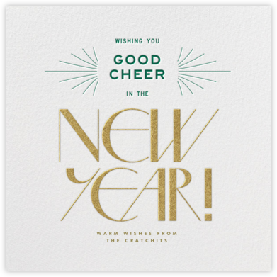 Good Cheer - Ivory - Paperless Post - New Year Cards