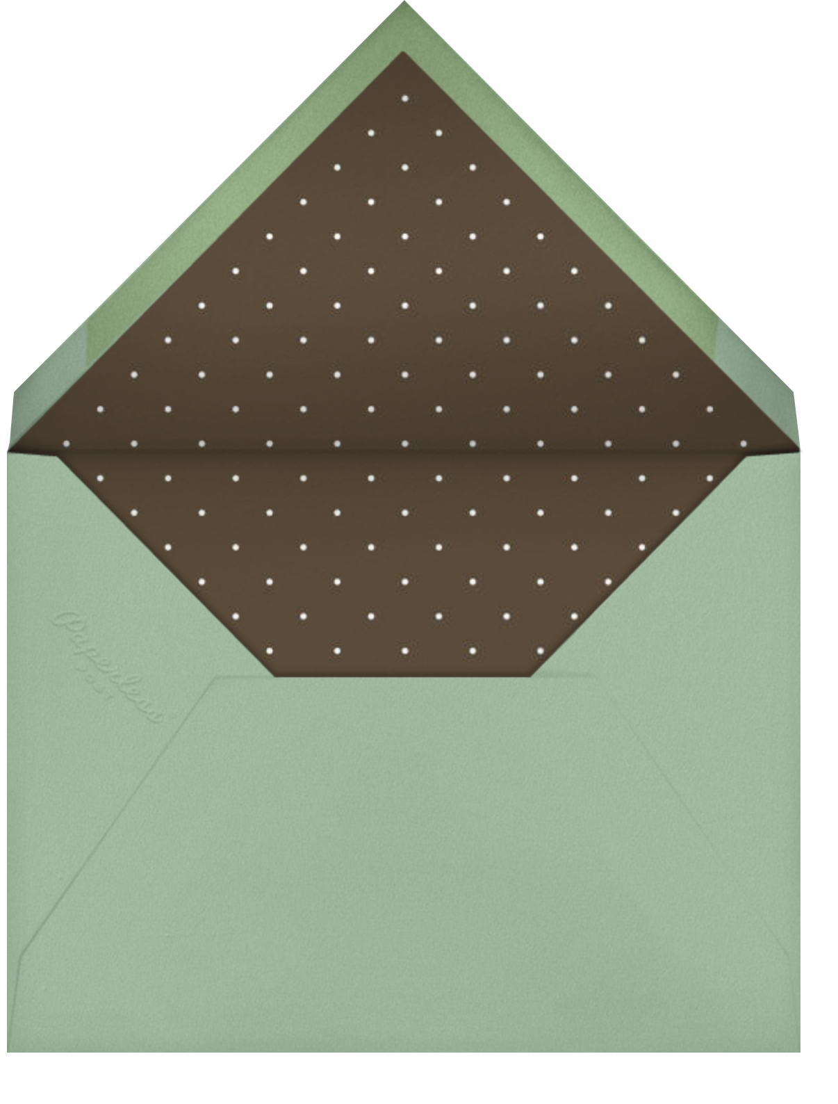 Thank You Sweetly - Sage - Paperless Post - Envelope