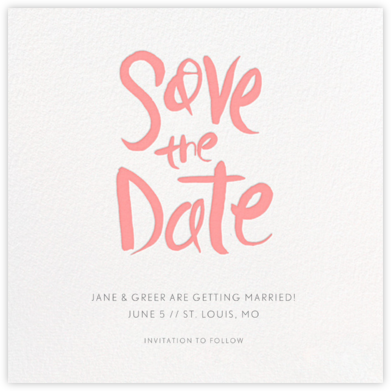 Ink Save The Date - Blossom - Linda and Harriett - Save the dates