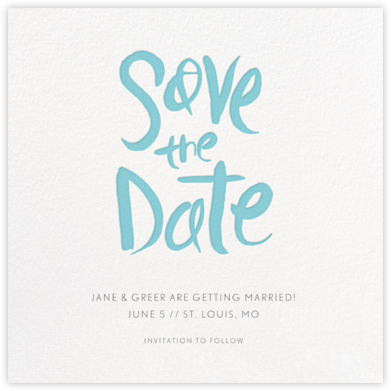 Ink Save The Date - Caribbean - Linda and Harriett - Save the dates
