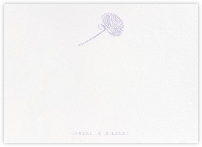 Ranunculus (Stationery) - Lavender - Paperless Post -
