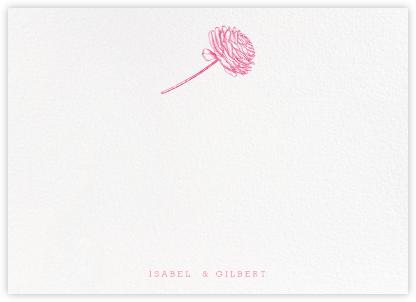 Ranunculus (Stationery) - Pink - Paperless Post -