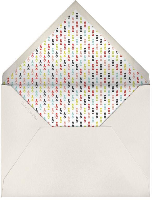 Mr and Mrs Deer - Lime - Mr. Boddington's Studio - Engagement party - envelope back