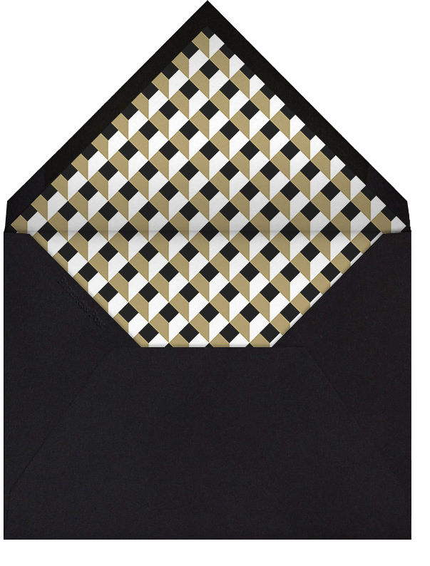 Keep It Quiet - Black with Gold - Paperless Post - Surprise party - envelope back