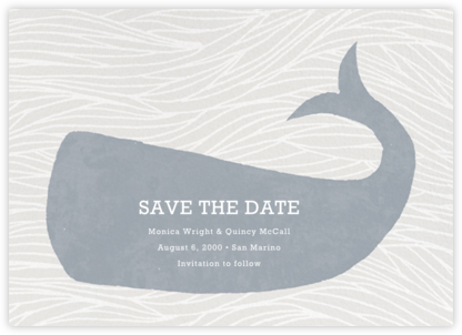Vintage Whale - Paperless Post - Save the dates