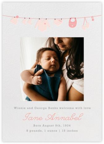 Onesie Photo (Photo) - Pink - Paperless Post - Birth Announcements