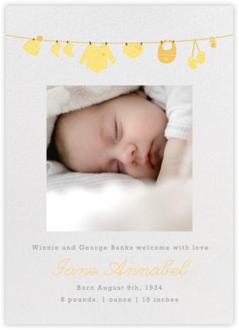 Onesie (Photo) - Yellow - Paperless Post - Birth Announcements