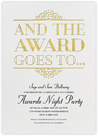 Award Season - Crate & Barrel - Invitations