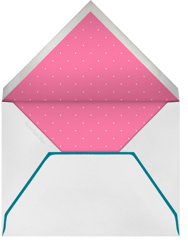 Airy Dots - Nile Blue with White & Silver - Paperless Post - Envelope