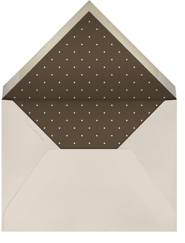 Airy Dots - Valrhona with White & Gold - Paperless Post - Envelope