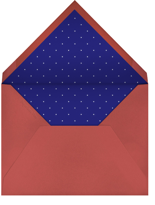 Airy Dots - Coral Cotton with White & Sepia - Paperless Post - Envelope