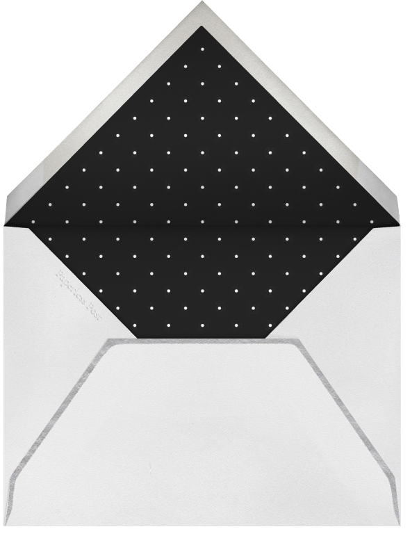 Airy Dots - Ivory with Black & Silver - Paperless Post - Envelope