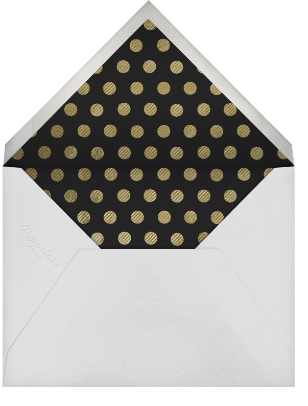 La Goulette Disco - White/Gold - Paperless Post - New Year - envelope back