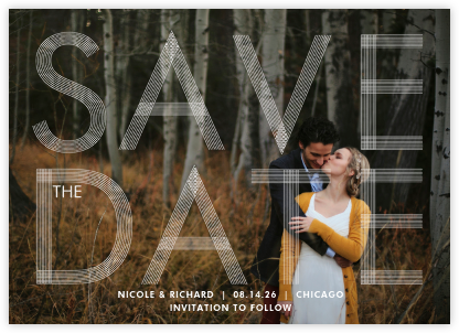 Sellotape (Horizontal) - Paperless Post - Photo save the dates