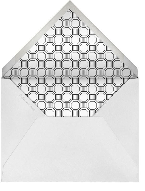 Claridge (Square) - Black - Paperless Post - Party save the dates - envelope back