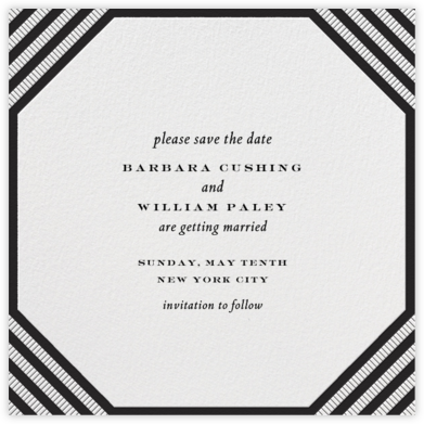 Claridge (Square) - Black - Paperless Post - Save the dates