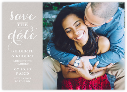Photo Flourish - Oyster - Paperless Post - Photo save the dates