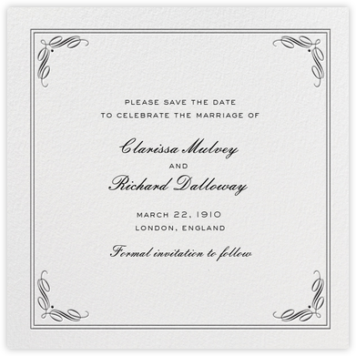 Regency (Square) - Black - Paperless Post - Save the dates