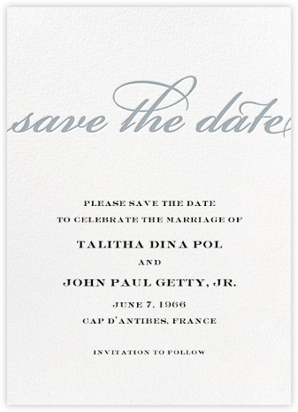 Simple Script (Save the Date) - Pacific - Paperless Post - Save the dates