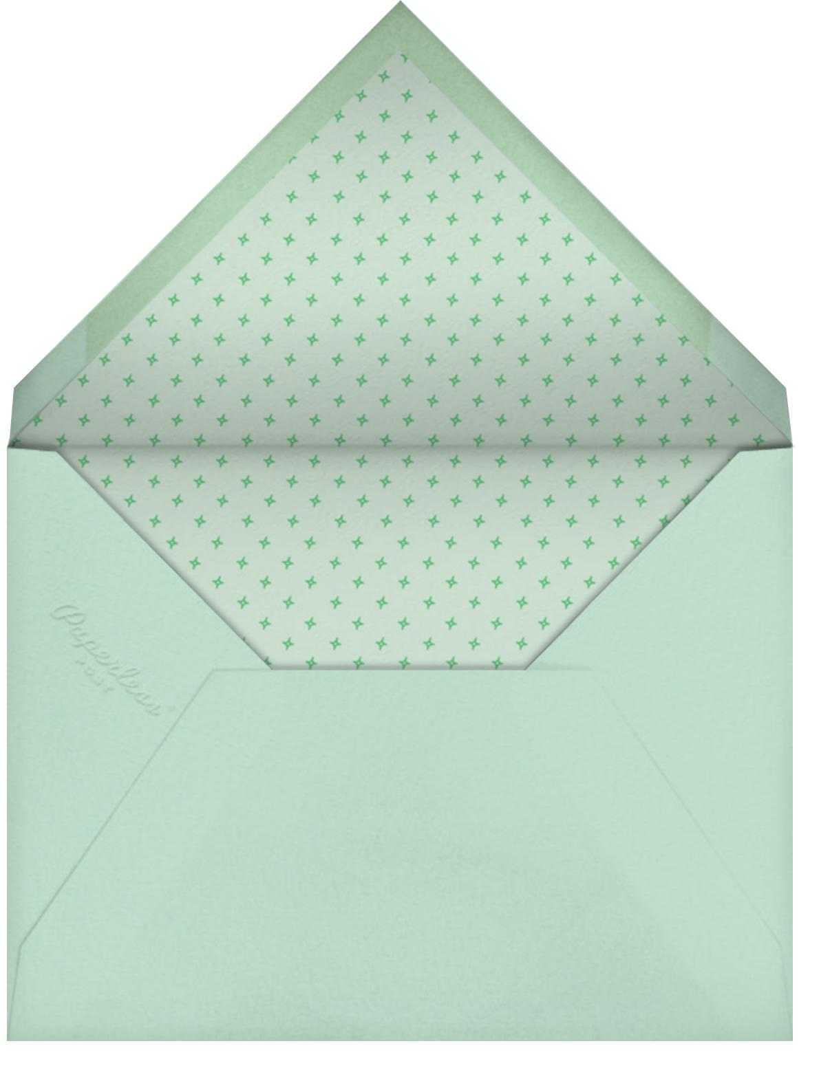 Bunny - Mint - Paperless Post - Easter - envelope back