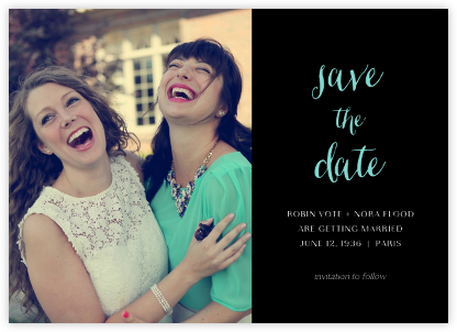 Photo Spread - Black - Paperless Post - Save the dates