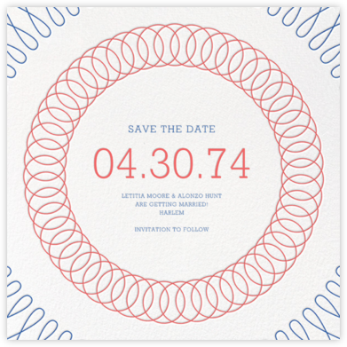 Spirals (Save the Date) - Coral - Paperless Post - Save the dates