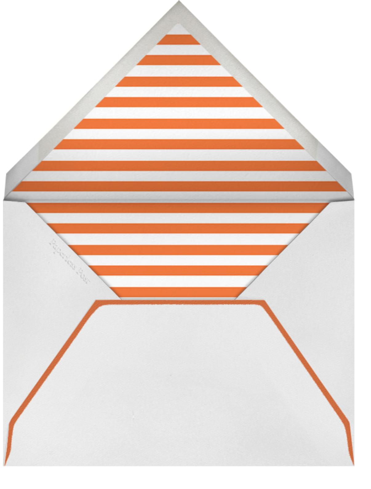 Heart Save the Date - Blue Orange - The Indigo Bunting - The Indigo Bunting - envelope back