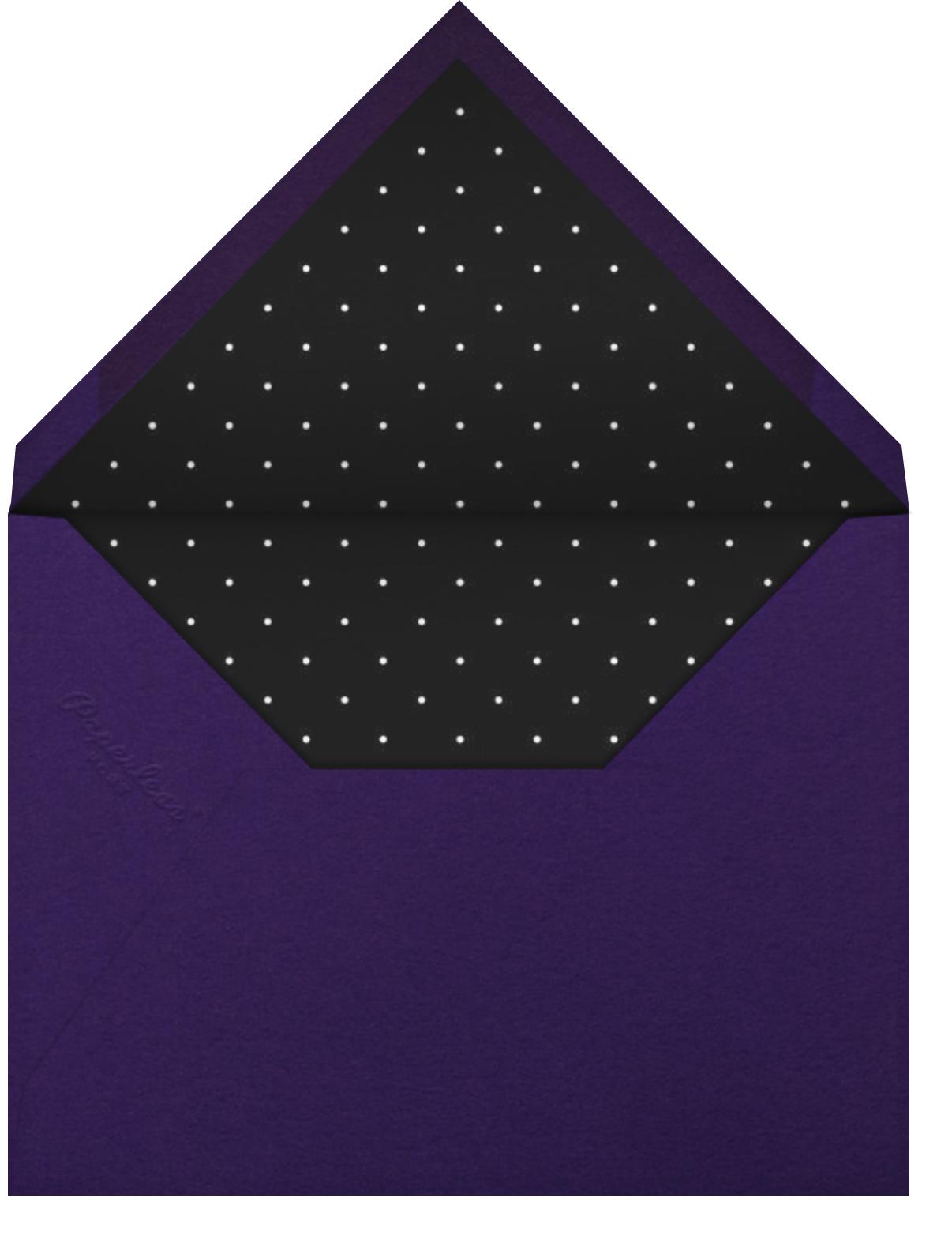 Cadogan - Cream/Black - Paperless Post - Graduation party - envelope back