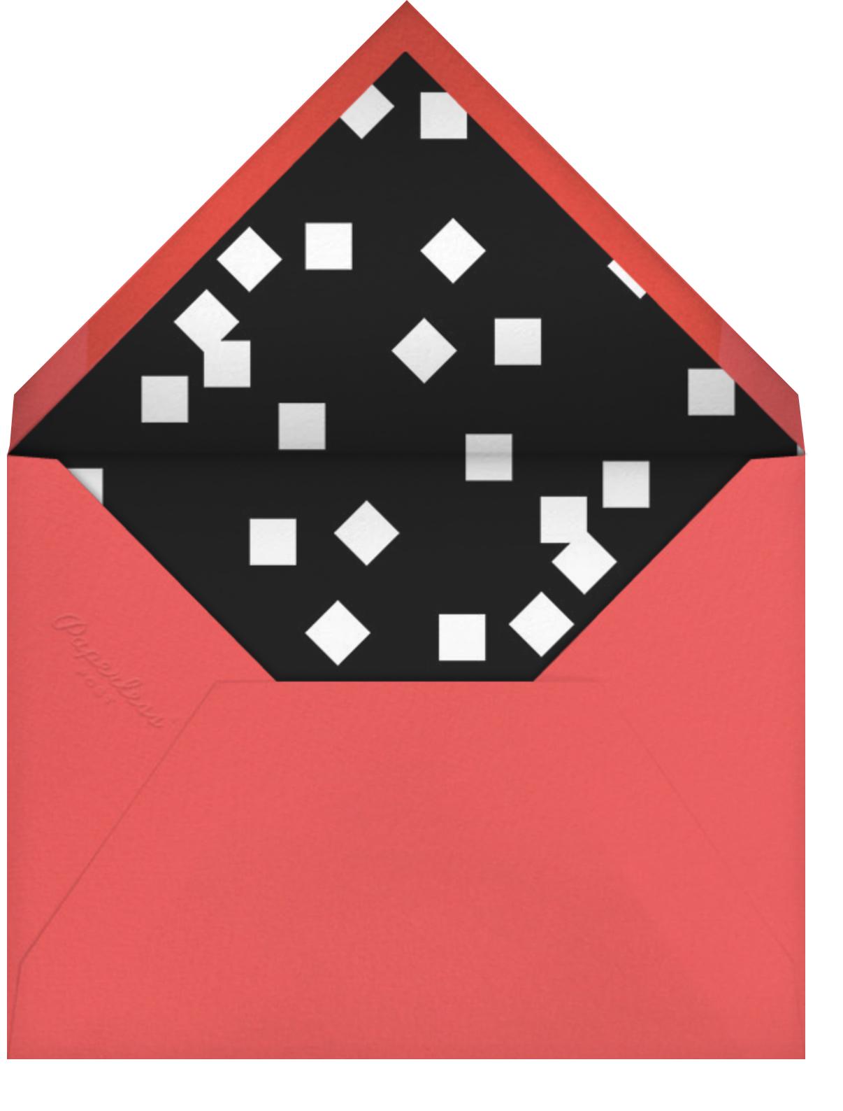 Palm Springs - Coral - Paperless Post - Adult birthday - envelope back