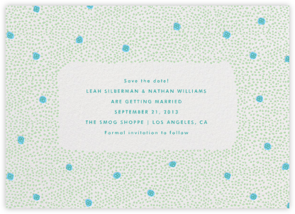 Garden Flowers Save the Date - Mint Turquoise - The Indigo Bunting -
