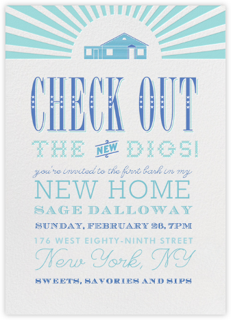 New Digs - Crate & Barrel - Housewarming party invitations