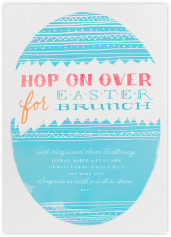 Hop on Over - Crate & Barrel - Easter Invitations