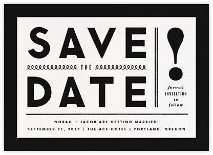 Bold Line (Save the Date) - Black - The Indigo Bunting - Save the dates