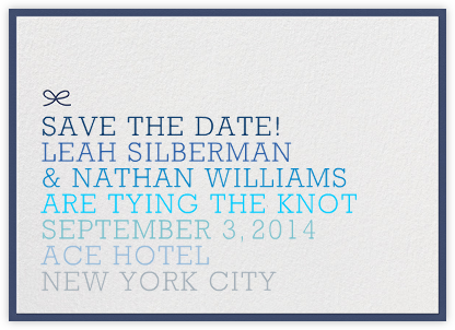 Ombre Save the Date - Blue | null