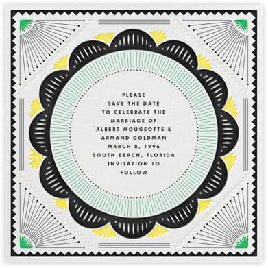 Santa Fe (Save the Date) - Green/Yellow | null