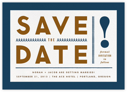 Bold Line (Save the Date) - Blue - The Indigo Bunting - Save the dates