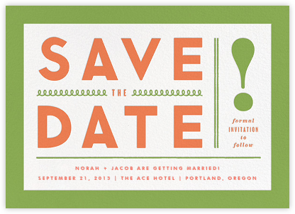 Bold Line (Save the Date) - Green - The Indigo Bunting -