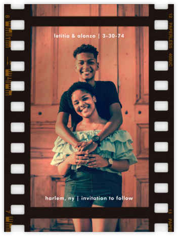 Film Still - Tall - Paperless Post - Save the Date with Photo