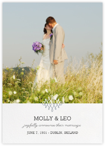 Photo Filigree - Paperless Post - Wedding Announcements