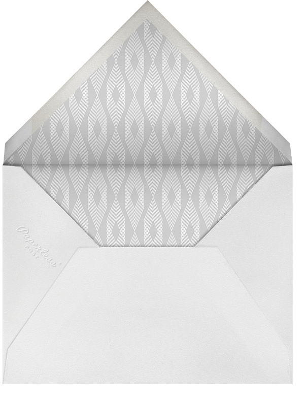 Four Photo Thank You Card - Paperless Post - Wedding - envelope back