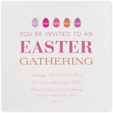 Easter Gathering - Crate & Barrel - Easter invitations